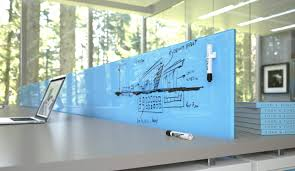 office wall boards. clarus furniture glass blue office wall boards