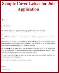 Cover Letter Sample For Job Application Cover Letter Examples