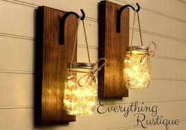 diy mason jar sconce decor lights