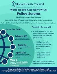 Wha Scrum Health Series Council Policy Webinar - Global