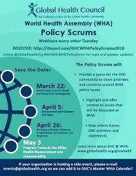 - Policy Health Series Scrum Council Global Wha Webinar