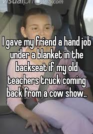 Hand job under blanket