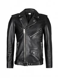 purewhite leather biker jacket black