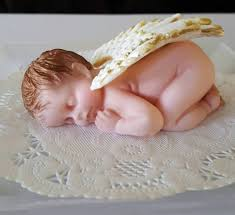 Extra Large Fondant Angel Baby Cake Topper On Storenvy