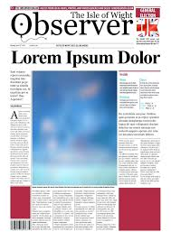 Online Newspaper Template Template Front Page Newspaper Template 19