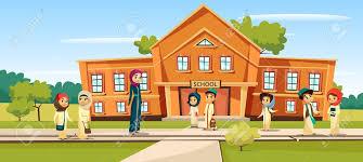 Muslim School Vector Illustration Cartoon Children And Teacher.. Royalty  Free Cliparts, Vectors, And Stock Illustration. Image 95996264.