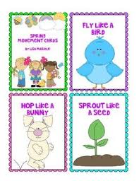 Spring Photo Cards Spring Movement Cards For Preschool And Brain Break