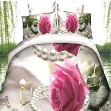 roses department pink rose comforter set bedding ring pearl quilt duvet cover bed sheet linen