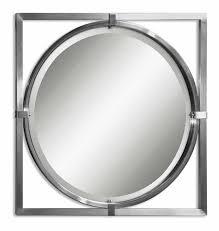 brushed nickel mirror. Kagami Brushed Nickel Mirror