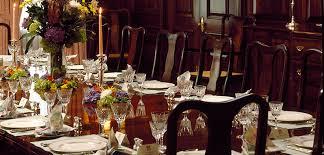 set a formal dinner table