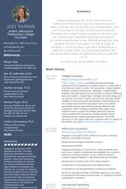 college counselor resume samples vocational counselor resume