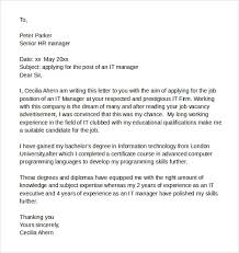 Sample It Cover Letter Samples Examples Format 7 Download Free