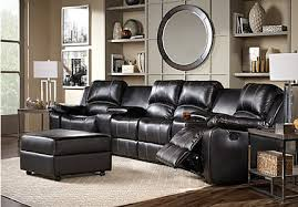 leather sectional living room furniture. Fenway Heights Black 6 Pc Leather Sectional Living Room Furniture