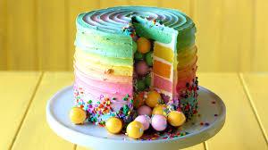 Egg Surprise Cake Design Rainbow Candy Surprise Cake