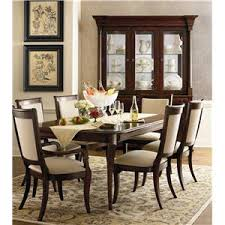 Bassett Louis Philippe Rectangular Trestle Dining Table AHFA