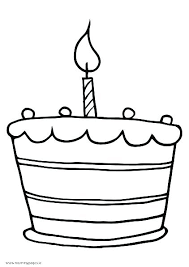 Cake Color Page Coloring Page Birthday Cake Color Pages Cupcake