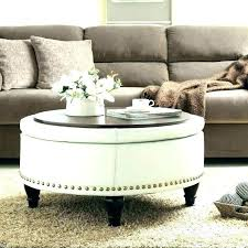 coffee table leather ottoman green round black lamps