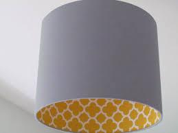 lighting lamp shades. new handmade light grey mustard quatrefoil geometric lampshade lightshade lighting lamp shades
