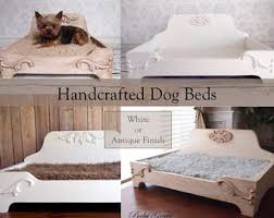 wood dog bed furniture. Handcrafted Dog Bed, Wood Raised Pet Elevated Bed Furniture