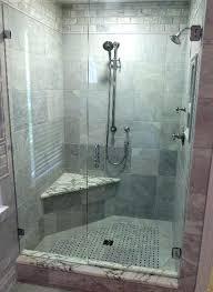 frameless glass door interior white wooden frosted awesome black tile floors double shower panic hardware