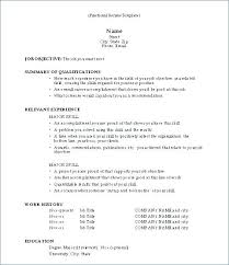 Template For Chronological Resume – Resume Sample Directory