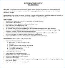 18 Inspirational Cna Job Description For Resume Bizmancan Com