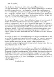 write a charity appeal letter for action against hunger gcse page 1 zoom in