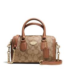Baby Bennett Satchel In Signature Canvas Khaki   Saddle   F35232. Coach