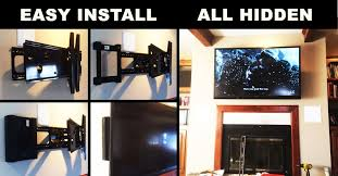 cable box wall mounted tv