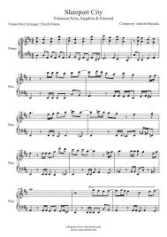 pokemon sheet music piano slateport city pokemon piano sheet music by drakon thedragon on