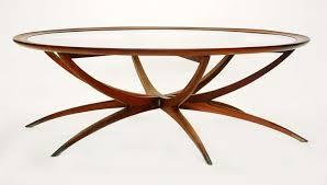 mid century modern coffee table wood
