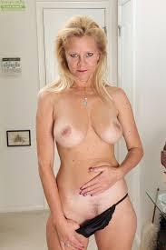 Big boobed nude old woman