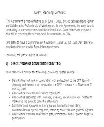 Event Planning Services Agreement Corporate Contract Template Event Planning Agreement Event