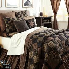 black country primitive patchwork quilt set for twin queen cal king size bedding