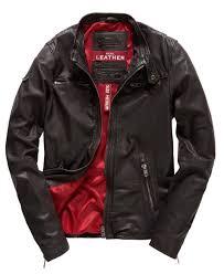 superdry mens real hero biker leather jacket brown superdry leather jackets k10i7816 superdry t shirts