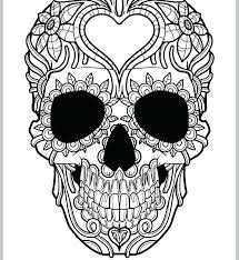 Printable Sugar Skull Coloring Pages Zupa Miljevcicom