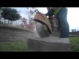how to cut retaining wall blocks and