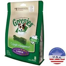 Greenies Size Chart Greenies Weight Management Treats For Dogs 50 100 Lbs Large 12 Oz