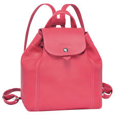 longchamp le pliage cuir le pliage cuir backpack xs donna zaini pink