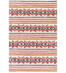 indoor outdoor rug cream and hot pink plastic full size