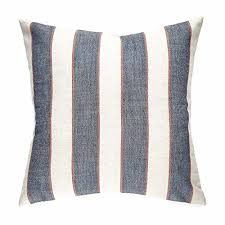 large throw pillows for couch. Simple Large Homier Navy Blue Striped Linen Blend Decorative Pillow Cover Throw Cushion  Case  Nautical Denim Wide Stripes With Modern WhiteCream Large  For Large Pillows Couch