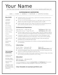 Example Of One Page Resume – Resume Ideas Pro