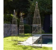 wire garden trellis from pottery barn