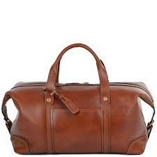 large leather travel holdall stanley cognac
