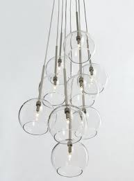 easy pieces modern glass globe chandeliers multi pendant light