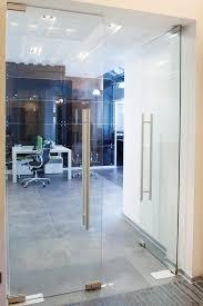 building glass door. internal frameless glass doors building door