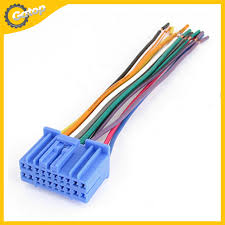 com buy auto aftermarket radio wire harness cd wiring com buy auto aftermarket radio wire harness cd wiring harness female plug in stereo adapter cable wire terminal plastic shell for honnda from