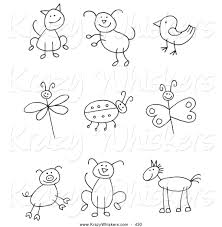 Critter Clipart Of A Coloring Page