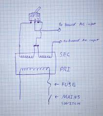simple adjustable power supply ec projects com wiring of the transformer switch