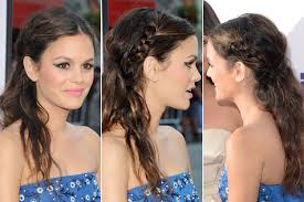 easy holiday party hair makeup and nail looks glamour work to party hair tip braided half up half down